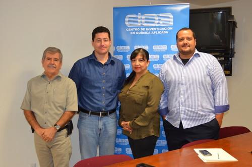 Dr. Roberto Benavides, Dr. Antonio Cárdenas, Dra. Esmeralda Saucedo, Dr. Yibrán Perera