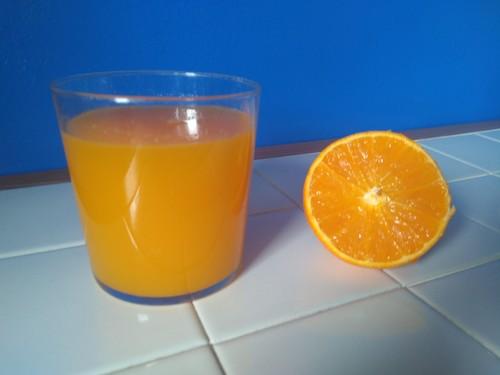 Zumo de naranja. Foto: F. Descubre.