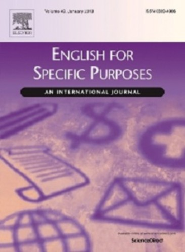 Portada revista 'English for Specific Purposes'/ULE