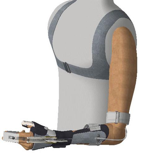 La ortoprótesis está basada en un arnés y un chicote con el que el paciente  usa 6bf5ae30137e