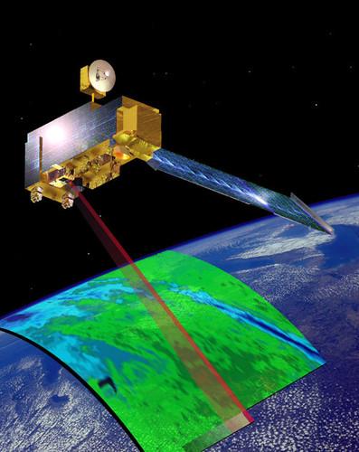 Uno de los satélites MODIS de la NASA. Fuente: NASA.