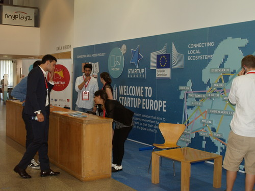 Stand del proyecto europeo Welcome.
