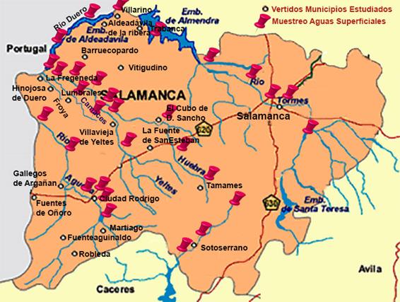 Provincia De Salamanca Mapa.La Usal Elabora El Mapa De Calidad De Las Aguas De La